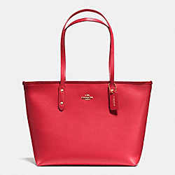 COACH F36875 City Zip Tote In Crossgrain Leather IME8B