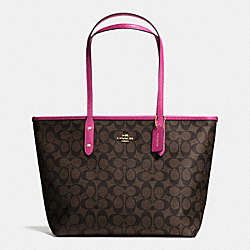 COACH F36876 - CITY ZIP TOTE IN SIGNATURE IME9T