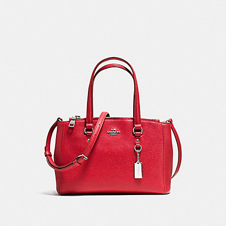 COACH f36881 STANTON CARRYALL 26 TRUE RED/SILVER