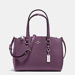 COACH F36881 - STANTON CARRYALL 26 IN CROSSGRAIN LEATHER SILVER/EGGPLANT