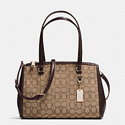 STANTON CARRYALL 29 IN SIGNATURE JACQUARD - f36906 - KHAKI/BROWN/LIGHT GOLD