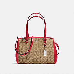STANTON CARRYALL 29 IN SIGNATURE JACQUARD - f36906 - KHAKI/TRUE RED/SILVER
