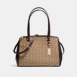 COACH F36912 - STANTON CARRYALL IN SIGNATURE LIGHT GOLD/KHAKI/BROWN