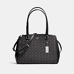 COACH F36912 Stanton Carryall In Signature Jacquard BLACK SMOKE/BLACK/SILVER