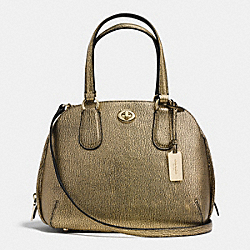 COACH F36987 Prince Street Mini Satchel In Metallic Pebble Leather LIGHT GOLD/GOLD