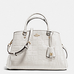 COACH F37097 Small Margot Carryall In Croc Embossed Leather IMITATION GOLD/CHALK