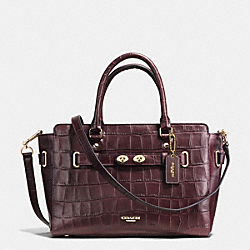 COACH F37099 Blake Carryall In Croc Embossed Leather IMITATION GOLD/OXBLOOD