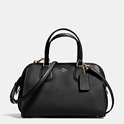 COACH F37138 - NOLITA SATCHEL IN CROSSGRAIN LEATHER LIGHT GOLD/BLACK