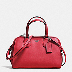COACH F37138 Nolita Satchel In Crossgrain Leather SILVER/TRUE RED