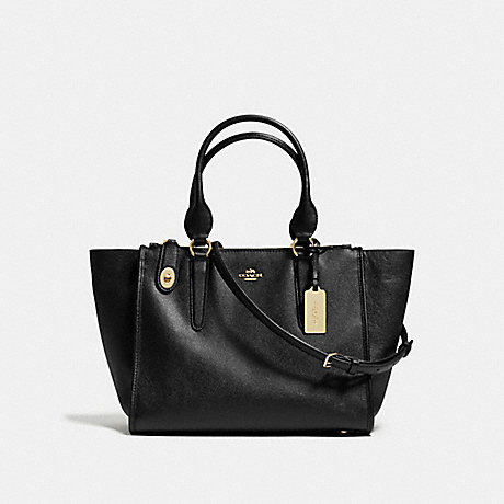 COACH f37140 CROSBY CARRYALL BLACK/LIGHT GOLD
