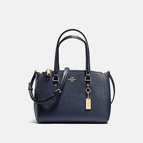 COACH f37145 STANTON CARRYALL 26 NAVY/LIGHT GOLD