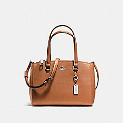 COACH F37145 - STANTON CARRYALL 26 SILVER/SADDLE