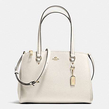 COACH f37147 STANTON CARRYALL 29 CHALK/LIGHT GOLD