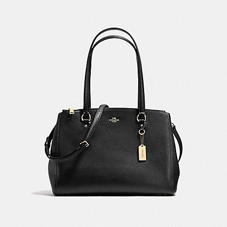 STANTON CARRYALL IN CROSSGRAIN LEATHER - COACH F37148 - LIGHT GOLD/BLACK