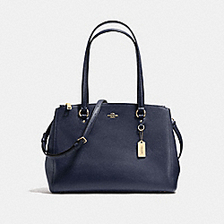 COACH F37148 - STANTON CARRYALL IN CROSSGRAIN LEATHER LIGHT GOLD/NAVY
