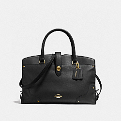 MERCER SATCHEL - F37167 - BLACK/LIGHT GOLD