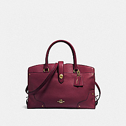 COACH F37167 - MERCER SATCHEL BURGUNDY/LIGHT GOLD