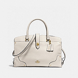 COACH F37167 - MERCER SATCHEL IN GRAIN LEATHER LIGHT GOLD/CHALK