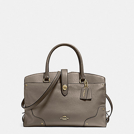 COACH f37167 MERCER SATCHEL FOG/LIGHT GOLD
