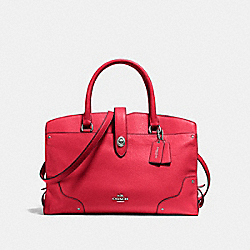 COACH F37167 Mercer Satchel TRUE RED/SILVER