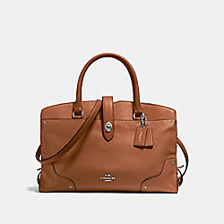 MERCER SATCHEL - F37167 - SADDLE/SILVER