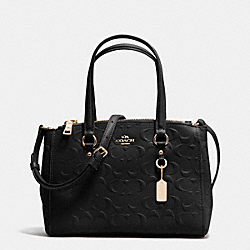 COACH F37175 - STANTON CARRYALL 26 IN SIGNATURE EMBOSSED LEATHER LIGHT GOLD/BLACK
