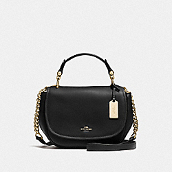 COACH F37180 - COACH NOMAD TOP HANDLE CROSSBODY IN GLOVETANNED LEATHER LIGHT GOLD/BLACK