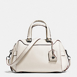 COACH F37212 Ace Satchel In Glovetanned Leather DARK GUNMETAL/CHALK