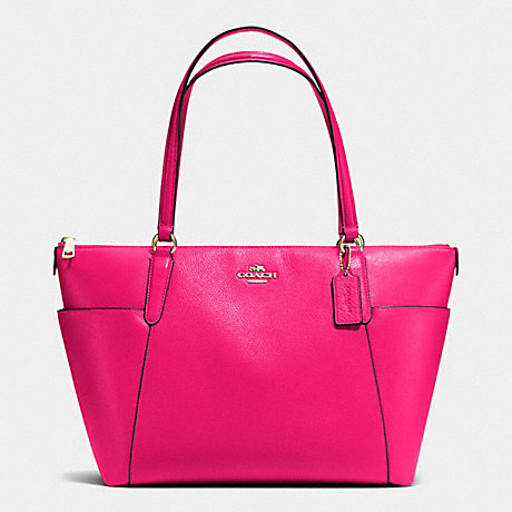 bd9f62fa600a COACH F37216 - AVA TOTE IN PEBBLE LEATHER - IMITATION GOLD PINK RUBY ...