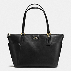COACH F37216 - AVA TOTE IN PEBBLE LEATHER IMITATION GOLD/BLACK