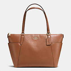 COACH AVA TOTE IN PEBBLE LEATHER - IMITATION GOLD/SADDLE - F37216