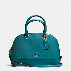 COACH F37217 Mini Sierra Satchel In Crossgrain Leather IMITATION GOLD/ATLANTIC