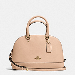 MINI SIERRA SATCHEL IN CROSSGRAIN LEATHER - f37217 - IMITATION GOLD/BEECHWOOD