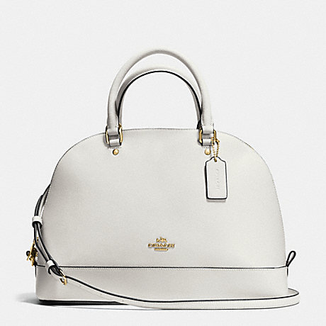 COACH f37218 SIERRA SATCHEL IN CROSSGRAIN LEATHER IMITATION GOLD/CHALK