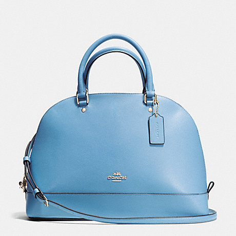 COACH f37218 SIERRA SATCHEL IN CROSSGRAIN LEATHER IMITATION GOLD/BLUEJAY