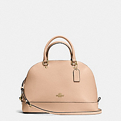 SIERRA SATCHEL IN CROSSGRAIN LEATHER - f37218 - IMITATION GOLD/BEECHWOOD