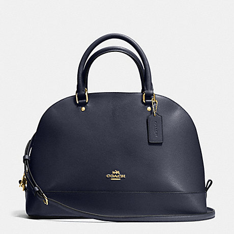 COACH f37218 SIERRA SATCHEL IN CROSSGRAIN LEATHER IMITATION GOLD/MIDNIGHT