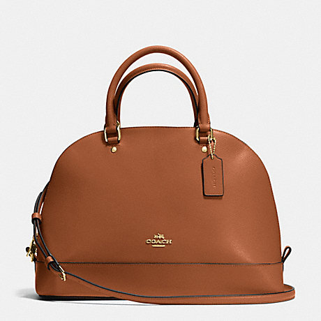 COACH f37218 SIERRA SATCHEL IN CROSSGRAIN LEATHER IMITATION GOLD/SADDLE