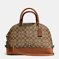 COACH F37233 - SIERRA SATCHEL IN SIGNATURE IMITATION GOLD/KHAKI/SADDLE