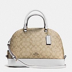 COACH F37233 Sierra Satchel In Signature IMITATION GOLD/LIGHT KHAKI/CHALK