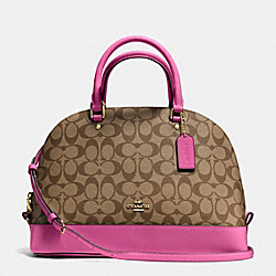 COACH F37233 - SIERRA SATCHEL IN SIGNATURE IMITATION GOLD/KHAKI/DAHLIA