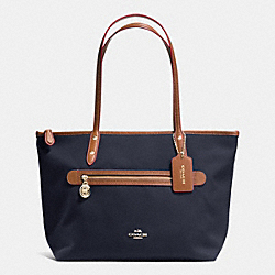 COACH F37237 Sawyer Tote In Polyester Twill IMITATION GOLD/MIDNIGHT