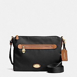 COACH F37239 - SAWYER CROSSBODY IN POLYESTER TWILL IMITATION GOLD/BLACK