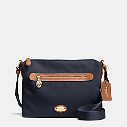 COACH F37239 - SAWYER CROSSBODY IN POLYESTER TWILL IMITATION GOLD/MIDNIGHT