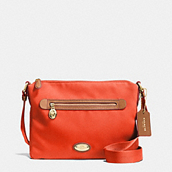 COACH F37239 - SAWYER CROSSBODY IN POLYESTER TWILL IMITATION GOLD/PEPPER