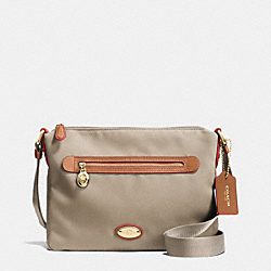 COACH F37239 - SAWYER CROSSBODY IN POLYESTER TWILL IMITATION GOLD/STONE