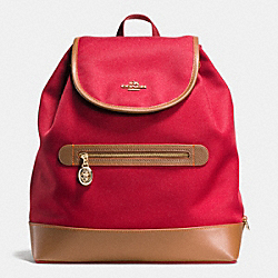 COACH F37240 - SAWYER BACKPACK IN CANVAS IMITATION GOLD/CLASSIC RED