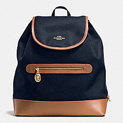 COACH F37240 Sawyer Backpack In Canvas IMITATION GOLD/MIDNIGHT