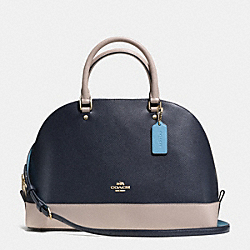COACH F37246 - SIERRA SATCHEL IN COLORBLOCK LEATHER IMITATION GOLD/NAVY/GREY BIRCH