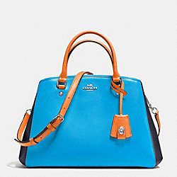 COACH F37248 - SMALL MARGOT CARRYALL IN COLORBLOCK LEATHER SILVER/AZURE MULTI